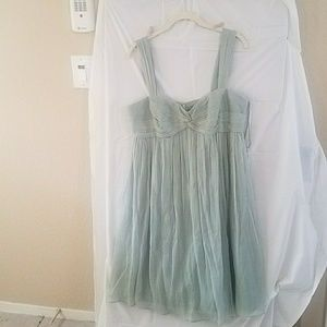 J crew silk dress in surf green 12 nwt